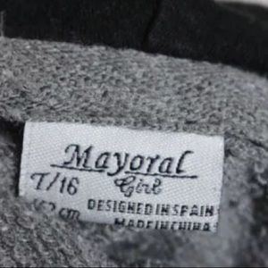 Mayoral Shirts & Tops - MAYORAL GRAY COTTON GRAPHIC HOODIE SIZE JUNIORST16